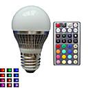 tanie Żarówki LED Kulki:-E26 / E27 Żarówki LED kulki A50 1 Koraliki LED LED wysokiej mocy Przygaszanie / Zdalnie sterowana / Dekoracyjna RGB 85-265 V / 1 sztuka / RoHs