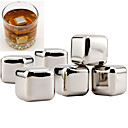 cheap Anime & Manga Dolls-10pcs Stainless Steel Whiskey Stones Rock Ice Cube Drink Freezer Wine Tool