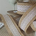 cheap Wedding Decorations-Solid Color Jute Wedding Ribbons - 5M Piece/Set Weaving Ribbon Gift Bow Decorate favor holder Decorate gift box Decorate wedding scene