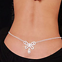 cheap Bracelets-Belly Chain / Body Chain - Imitation Diamond Heart, Bowknot Unique Design, Fashion Women's White Body Jewelry For Christmas Gifts / Daily / Casual / Rhinestone