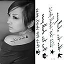 abordables Ropa para Perro-Tatuajes Adhesivos - Non Toxic/Parte Lumbar/Waterproof - Otros - Niños/Mujer/Hombre/Adulto/Juventud - Negro/Azul - Papel - 1 -6*10.5cm