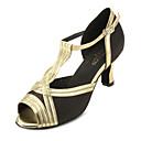 hesapli Araba İç Işıklar-Kadın's Latin Dans Ayakkabıları / Balo Saten Sandaletler Kişiye Özel Kişiselleştirilmiş Dans Ayakkabıları Altın