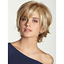 cheap Human Hair Capless Wigs-Human Hair Capless Wigs Human Hair Wavy Bob Haircut / Layered Haircut / With Bangs Side Part Black / Blonde / Brown Short Capless Wig Women's