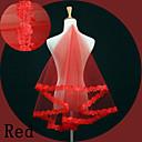 preiswerte Parykopfbedeckungen-Einschichtig Spitzen-Saum Hochzeitsschleier Fingerspitzenlange Schleier mit Stickerei Spitze / Tüll / Oval