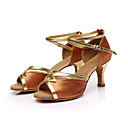 cheap Foot/Shoe Accents-Women's Latin Shoes / Ballroom Shoes / Salsa Shoes Paillette / Satin Sandal Buckle / Ribbon Tie Customized Heel Customizable Dance Shoes
