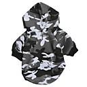 billiga Hundkläder-Katt Hund Huvtröjor Hundkläder Kamouflage Grå Cotton Kostym För husdjur Herr Dam Ledigt/vardag Mode