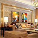 זול אומנות ממוסגרת-ציור שמן צבוע-Hang מצויר ביד - L ו-scape קלסי בַּד