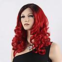 preiswerte Synthetische Perücken-Synthetische Perücken Wellen Asymmetrischer Haarschnitt Synthetische Haare Natürlicher Haaransatz Rot Perücke Damen Lang Kappenlos