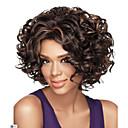 halpa Synteettiset peruukit ilmanmyssyä-Synteettiset peruukit Kihara Tiheys Suojuksettomat Naisten Musta Synteettiset hiukset