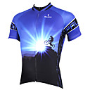 cheap Armwarmers & Legwarmers-ILPALADINO Men's Short Sleeve Cycling Jersey - Blue Bike Jersey, Quick Dry, Ultraviolet Resistant, Breathable Polyester