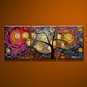 cheap Prints-Oil Painting Hand Painted - Abstract Canvas Three Panels