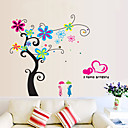cheap Wall Stickers-People Florals Cartoon Botanical Wall Stickers Plane Wall Stickers Decorative Wall Stickers, Vinyl Home Decoration Wall Decal Wall