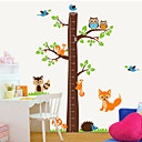 cheap Wall Stickers-Animals Botanical Cartoon Wall Stickers Plane Wall Stickers Decorative Wall Stickers Height Stickers, PVC Home Decoration Wall Decal Wall
