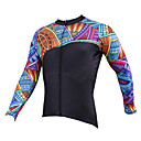 cheap Cycling Jackets-ILPALADINO Men's Long Sleeve Cycling Jersey - Black Bike Jersey, Quick Dry, Ultraviolet Resistant, Breathable Polyester