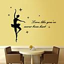 preiswerte Wand-Sticker-Menschen Musik Worte & Zitate Cartoon Design Wand-Sticker Worte & Zitate Wandaufkleber Dekorative Wand Sticker, Vinyl Haus Dekoration