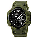 cheap Anime Cosplay Wigs-SKMEI Men's Sport Watch / Military Watch / Wrist Watch Alarm / Calendar / date / day / Chronograph Rubber Band Black / Green / Water Resistant / Water Proof / LCD / Dual Time Zones