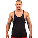 זול שמיכה מכסה עכשווית-אחיד פעיל ספורט מידות גדולות כותנה, עליונית טנק - בגדי ריקוד גברים