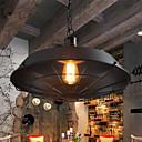billige Hengelamper-diameter 36cm vintage anheng lys 1-lys metall skygge stue spisestue hallway belysning