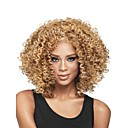 cheap Synthetic Wigs-Synthetic Wig Curly Synthetic Hair African American Wig / Glueless Blonde Wig Women's Medium Length Capless