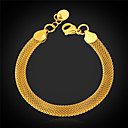 cheap Necklaces-Women's Figaro Chain Chain Bracelet / Bracelet - Stainless Steel, Gold Plated Fashion Bracelet For Christmas Gifts / Wedding / Party