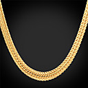 cheap Men's Necklaces-Women's Chunky Choker Necklace / Chain Necklace - Platinum Plated, Gold Plated Fashion Silver, Rose, Golden Necklace Jewelry For Wedding, Party, Daily