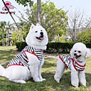 cheap Cake Molds-Cat Dog Shirt / T-Shirt Dog Clothes Stripe Black Cotton Costume For Pets Men's Women's Casual/Daily