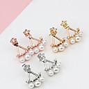 preiswerte Modische Halsketten-Damen Perle Ohrstecker - Perle Stern Gold / Silber / Rotgold Für