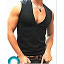 cheap Costume Wigs-Men's Super Sexy Undershirt Solid Colored 1box