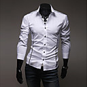cheap Earrings-Men's Slim Shirt - Solid Colored Basic Spread Collar / Long Sleeve