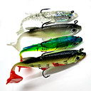 cheap Fishing Lures & Flies-4pcs pcs Soft Bait Fishing Lures Soft Jerkbaits Shad Soft Bait Soft Plastic Sea Fishing Spinning Freshwater Fishing Bass Fishing