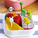 cheap Dinnerware-10pcs Pack Animal Zoo Theme Food Picks Snack Party Forks