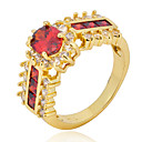 cheap Rings-Women's Band Ring - Zircon, Cubic Zirconia Fashion 6 / 7 / 8 Red For Wedding / Party / Daily