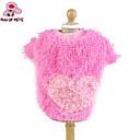 billige Hundetøj-Kat Hund Frakker T-shirt Hundetøj Hjerte Gul Rose Blå Lys pink Polarfleece Bomuld Kostume For kæledyr Cosplay Bryllup
