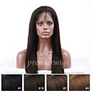 billige Blondeparykker med menneskehår-Ekte hår Helblonde Parykk Rett Parykk 130% Naturlig hårlinje / Afroamerikansk parykk / 100 % håndknyttet Dame Kort / Medium / Lang Blondeparykker med menneskehår