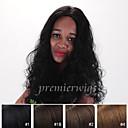 billige Syntetiske parykker uten hette-Ekte hår Blonde Forside Parykk Krøllet Parykk 130% Naturlig hårlinje / Afroamerikansk parykk / 100 % håndknyttet Dame Kort / Medium / Lang Blondeparykker med menneskehår