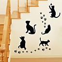 baratos Adesivos de Parede-Autocolantes de Parede Decorativos - Etiquetas de parede de animal Animais / Romance / Moda Sala de Estar / Quarto / Banheiro / Lavável