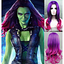 cheap Synthetic Capless Wigs-cosplay wig new guardians of the galaxy gamora wig synthetic long wavy gradient costume wigs Halloween