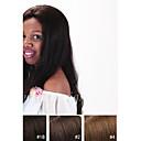 billige Hengelamper-Ekte hår Blonde Forside Parykk Rett Parykk 130% Naturlig hårlinje / Afroamerikansk parykk / 100 % håndknyttet Dame Kort / Medium / Lang Blondeparykker med menneskehår