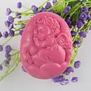 hesapli Sentetik Peruklar-uyku melek şeklinde sabun kalıbı mooncake kalıp fondan kek çikolata silikon kalıp, dekorasyon araçları bakeware