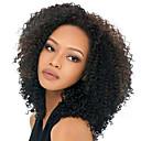 お買い得  袖のタトゥー-人間の毛のキャップレスウィッグ 人毛 Kinky Curly スタイル 機械製 かつら / その他の特徴カーリー