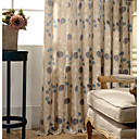 cheap Blackout Curtains-Rod Pocket Grommet Top Tab Top Double Pleat Pencil Pleat One Panel Curtain Modern Designer European Neoclassical Country, Print & Jacquard