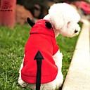 hesapli Köpek Kaseler ve Yemlikler-Kedi Köpek Kostümler Kapüşonlu Giyecekler Köpek Giyimi Vampires Kırmzı Polar Kumaş Kostüm Evcil hayvanlar için Erkek Kadın's Sevimli