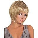 hesapli Düğün Dekorasyonları-Sentetik Peruklar Kadın's Düz Bob Saç Kesimi / Bantlı Sentetik Saç Peruk Şort / Uzun Bonesiz Sarışın StrongBeauty