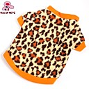 cheap Christmas Toys-Cat Dog Shirt / T-Shirt Sweatshirt Dog Clothes Leopard Brown Polar Fleece Costume For Pets Men's Women's Fashion