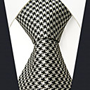 cheap Wedding Shoes-Men's Cute Party Work Rayon Necktie - Color Block Houndstooth Jacquard Basic