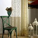 halpa Ikkunoiden verhot-valmiit pelkät verhot sävyttää yhden paneelin vaaleankeltainen / jacquard / makuuhuone