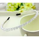 povoljno Dodaci za kosu-Južna Koreja uvozi ukosnica vještački dijamant beaded glavu Hoop dekoracije dvored kristala kose bend prozirna bijela