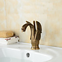 cheap Toilet Brush Holder-Antique Brass Finish Little Swan Bathroom Sink Faucet