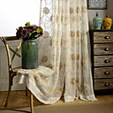 cheap Sheer Curtains-Country Curtains® One Panel Ivory Floral Embroidered Sheer Curtain Drape