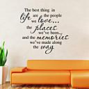 preiswerte Wand-Sticker-Romantik Mode Formen Feiertage Worte & Zitate Cartoon Design Fantasie Wand-Sticker Worte & Zitate Wandaufkleber Dekorative Wand Sticker,